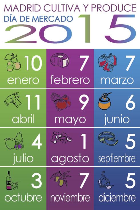 Calendario día de mercado