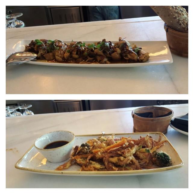 Tapas de alitas y tempura